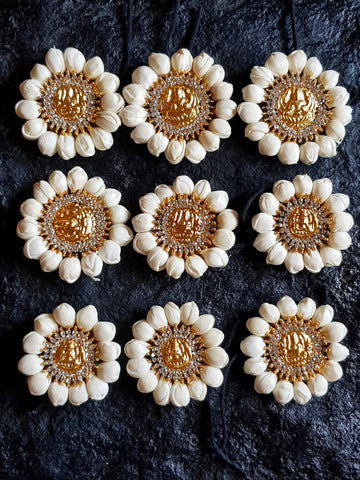 Mahalakshmi Stone Studded Artificial Flower Jada Billas - Malli Poo
