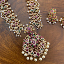 Load image into Gallery viewer, AD Stones Studded Guttapusalu Rani Necklace