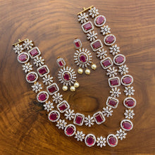 Load image into Gallery viewer, Two Layer High Quality Dual Polish AD Stones Necklace - Ruby