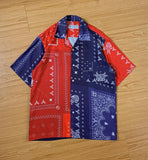 Red Blue Bandana Shirt - Tropic Thunder