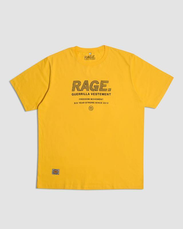 Rage Guerrilla Yellow T-Shirt - Tropic Thunder