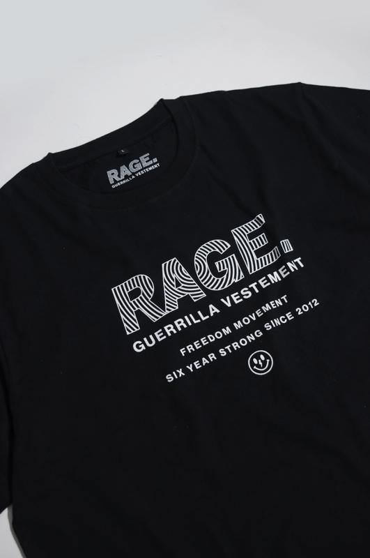 Rage Guerrilla Black T-Shirt - Tropic Thunder