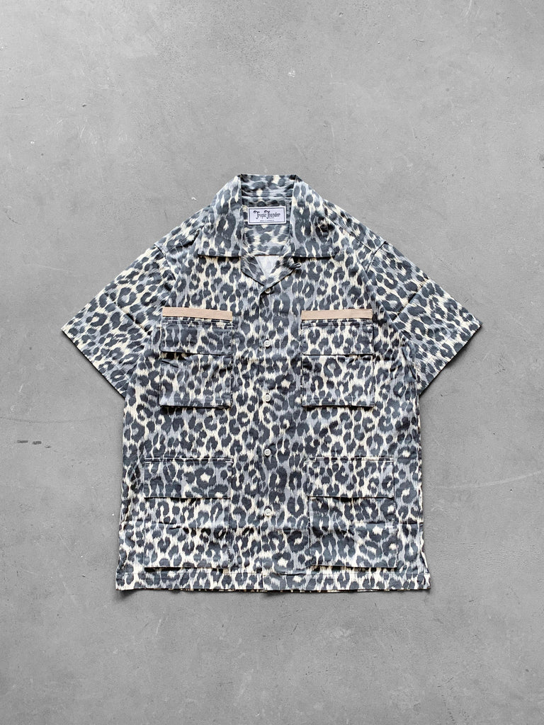 Military Party Dress x Rage Guerrilla Snow Leopard - Tropic Thunder