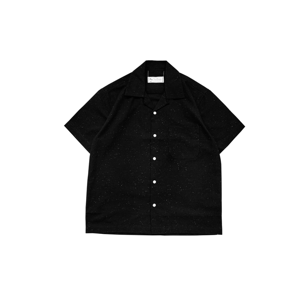 Rainbow Slub Linen Black Shirt - Tropic Thunder