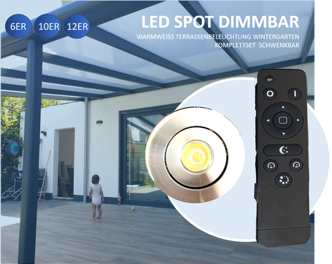 Schwenkbare LED 3W IP 44