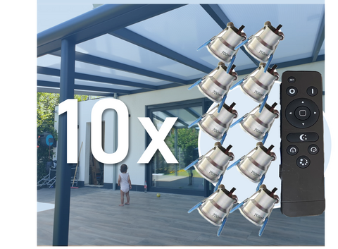 10x LED Downlight Minispots mit Trafo und Kabel ( Dimmbar) 2W-3W/IP44 Verkabelung