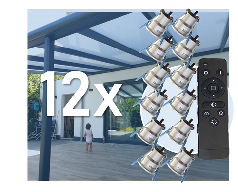 12x LED Downlight Minispots mit Trafo und Kabel ( Dimmbar) 2W-3W/ IP65