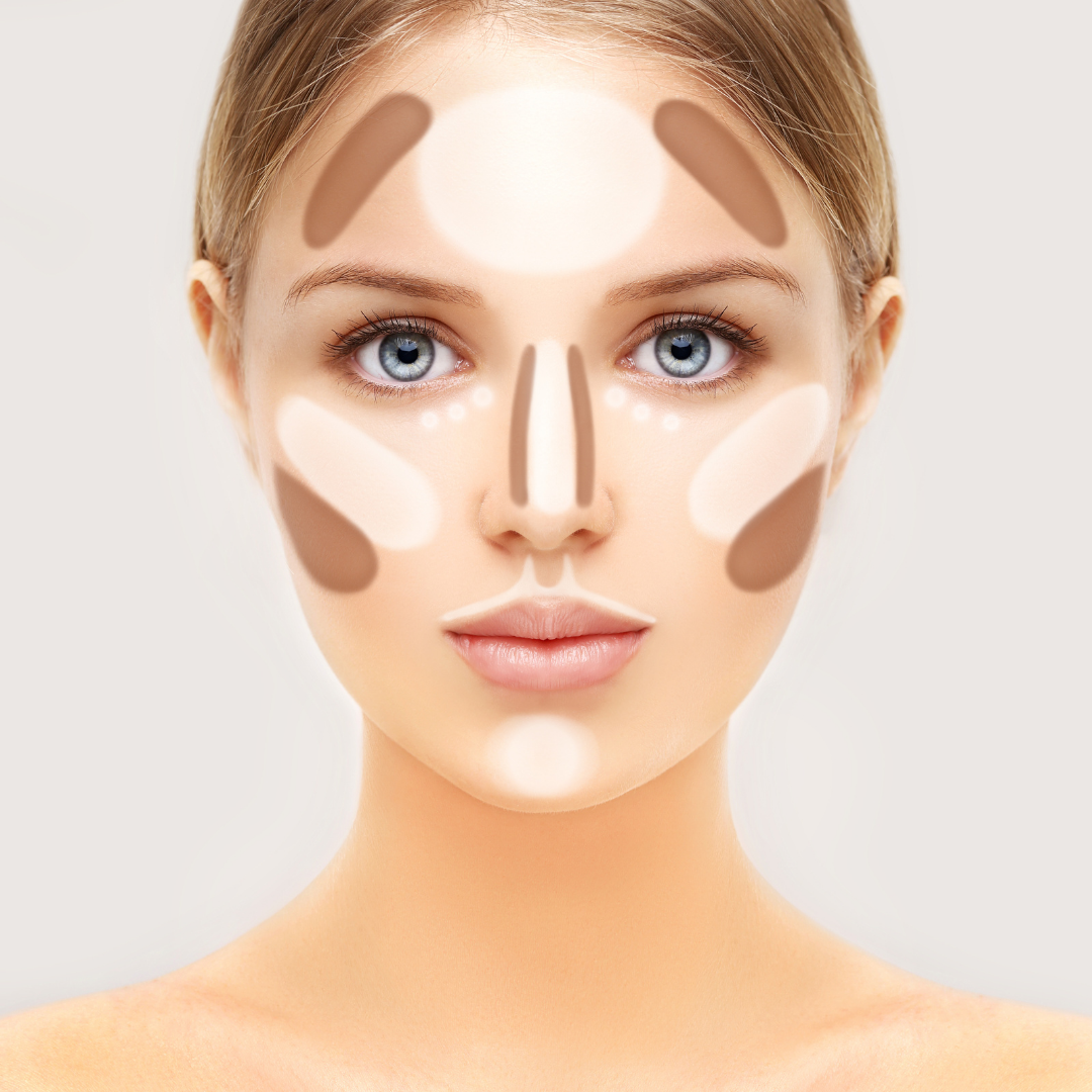 Placement for Bronzer for Contouring