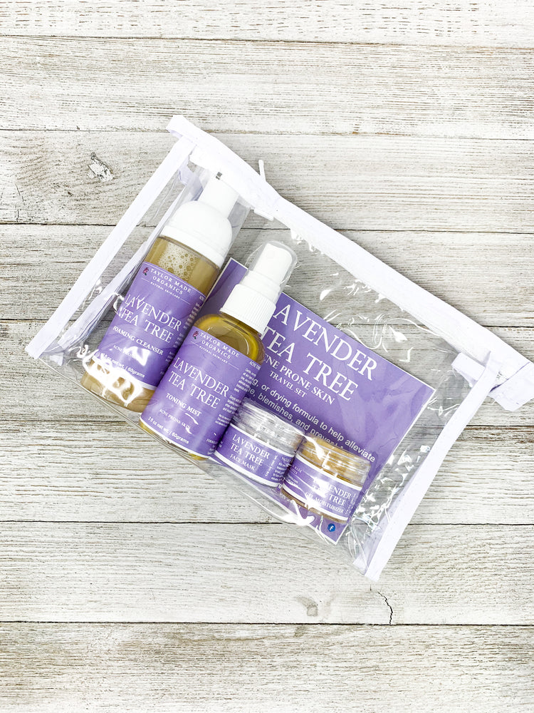 Lavender Tea Tree Travel Set - acne prone skin