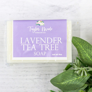 Lavender Tea Tree Bar Soap - acne prone skin