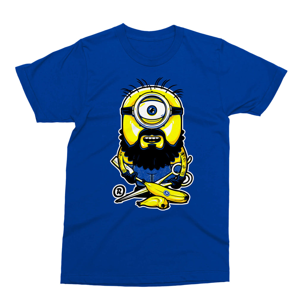 T-Shirt - All Cute, All Bearded - Bleu