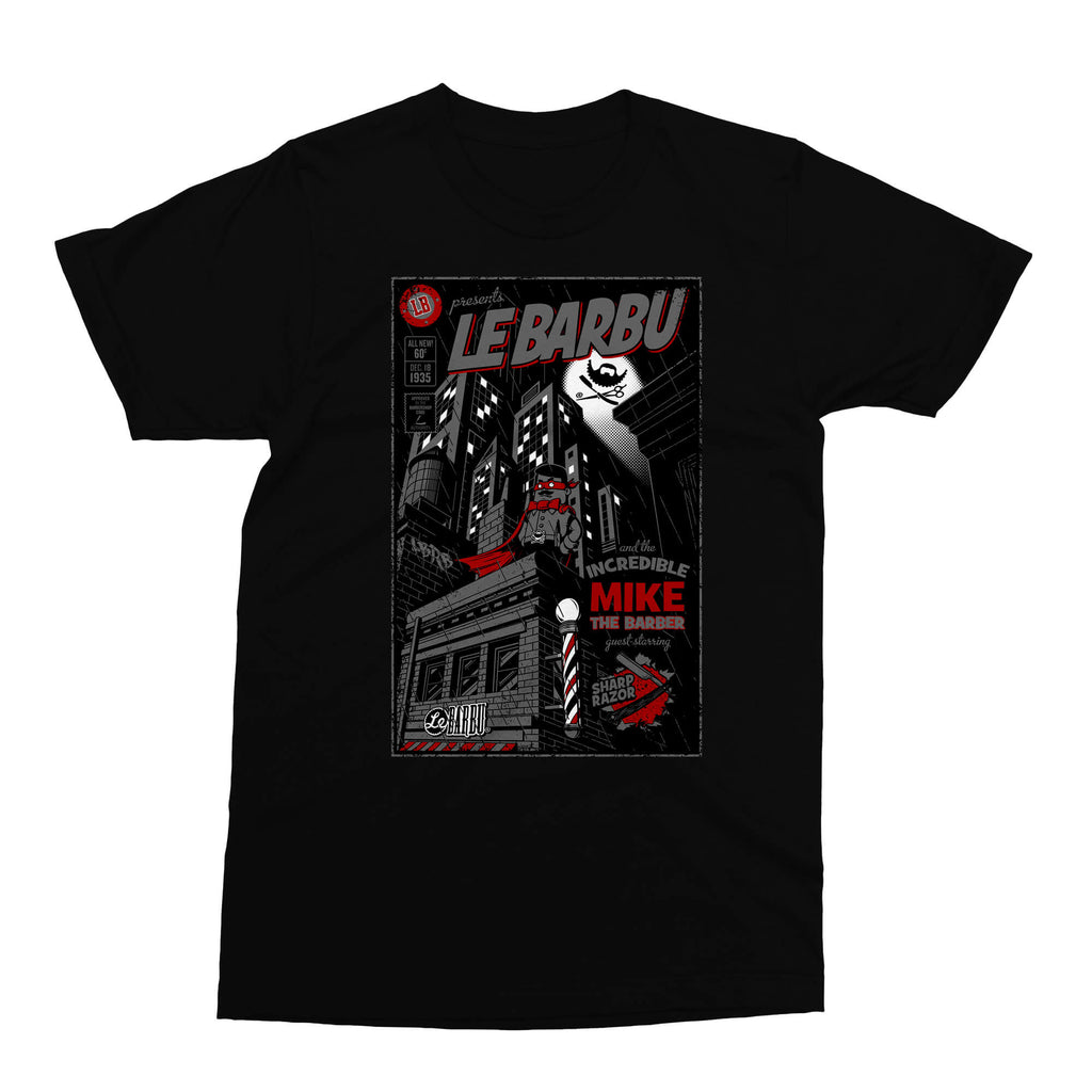 T-Shirt - Mike, The Incredible Barber - Noir