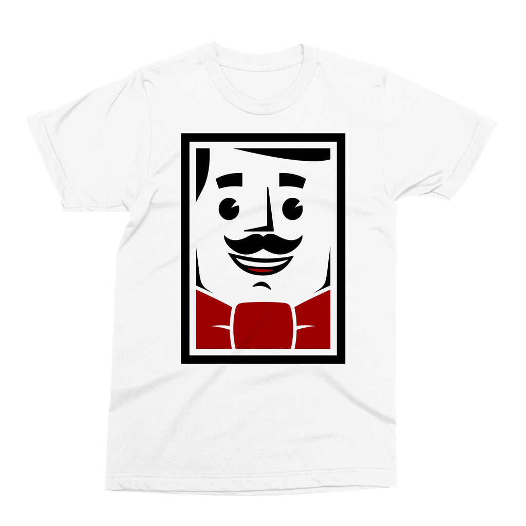 T-Shirt - Mike, The Giant Barber - White