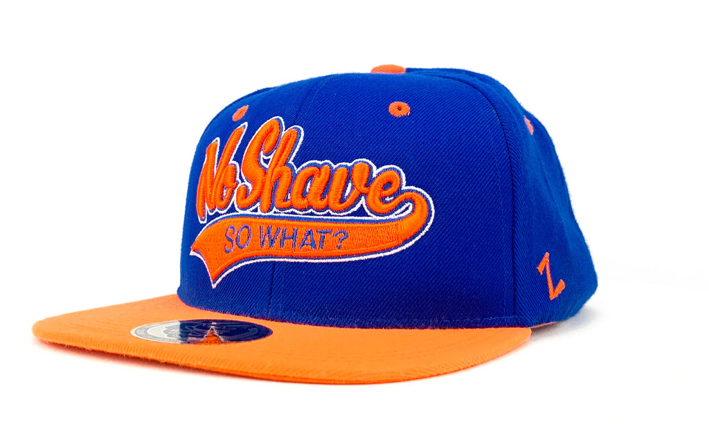 Snapback Cap - No Shave, So What? - Blue/Orange