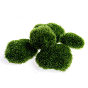 5pcs Green Artificial Moss Stones Grass Plant Poted Home Garden Decor Landscape