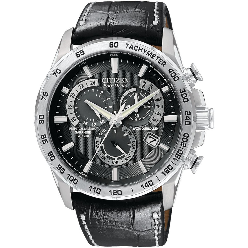 Citizen Chrono Perpetual A-T Alarm Chronograph Radio Controlled Watch AT4000-02E