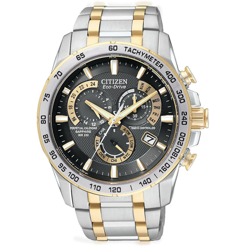 Citizen Chrono Perpetual A-T Alarm Chronograph Radio Controlled Watch AT4004-52E
