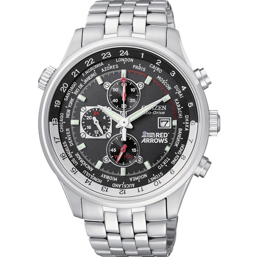 Citizen Red Arrows World Time Chronograph Watch CA0080-54E
