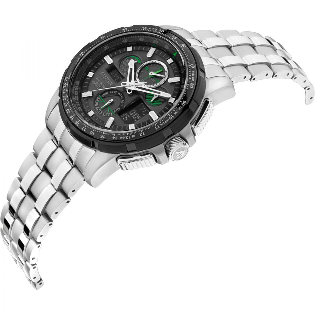 Citizen Skyhawk A-T Alarm Chronograph Radio Controlled Eco-Drive Watch JY8051-59E