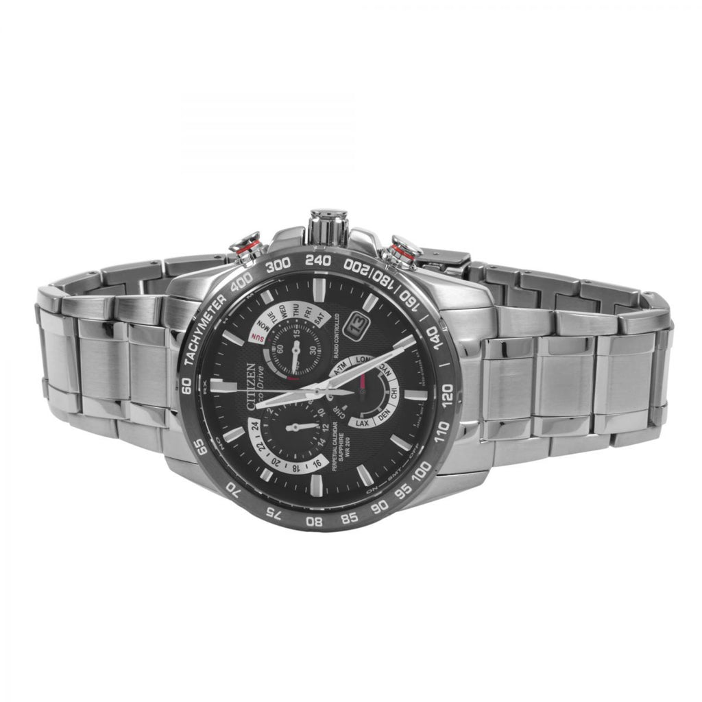 Citizen Chrono Perpetual A-T Alarm Chronograph Radio Controlled Watch AT4008-51E