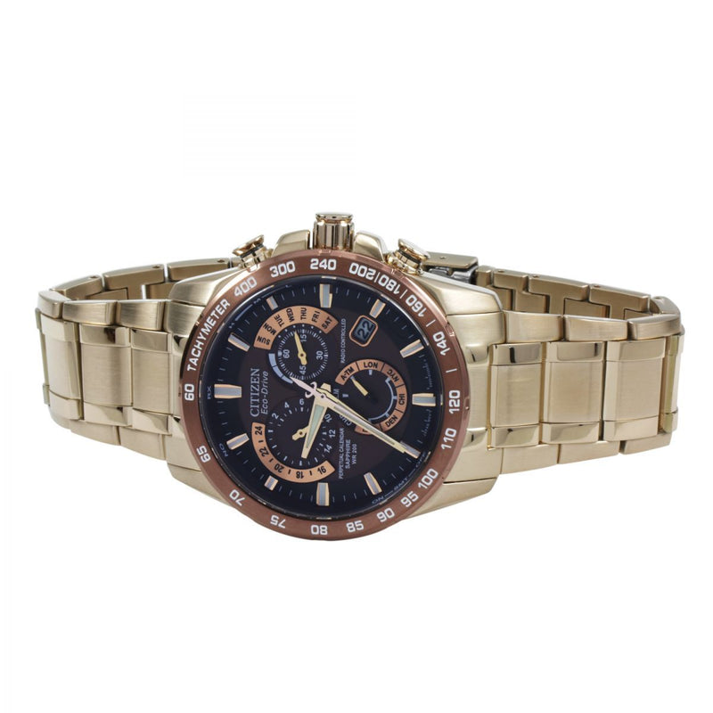 Citizen Chrono Perpetual A-T Alarm Chronograph Radio Controlled Watch AT4106-52X