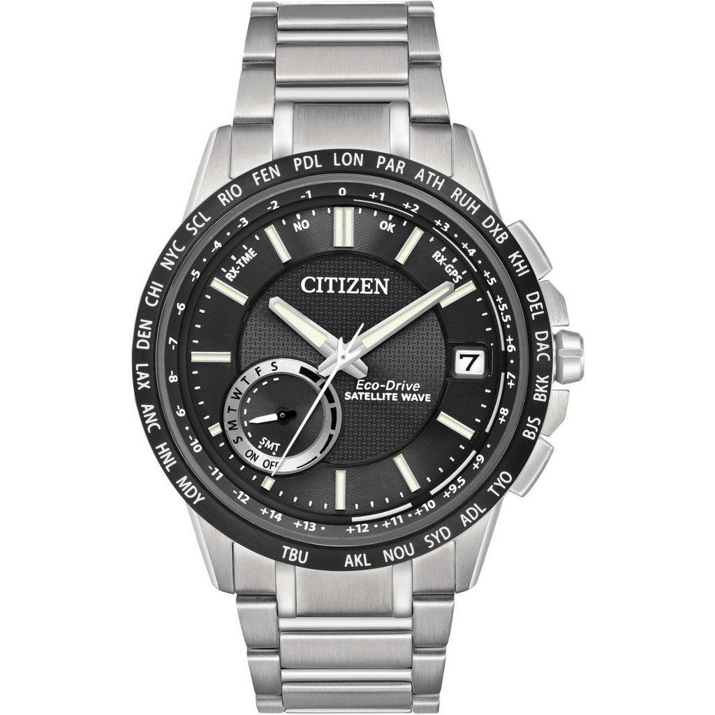 Citizen Satellite Wave-World Time GPS Eco-Drive Watch CC3005-85E