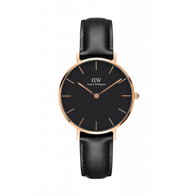 CLASSIC PETITE BLACK SHEFFIELD - Daniel Wellington