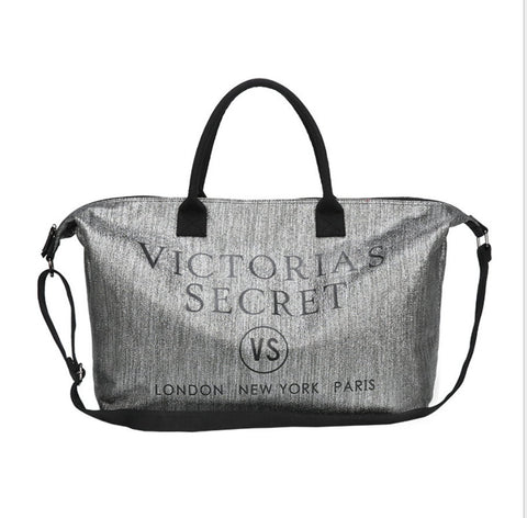 VICTORIA'S SECRET GLITTER LARGE TOTE BAG 3 COLOR TO CHOOSE