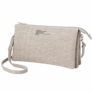 Japanese magazine gift Zucca Grey three layer crossbody bag