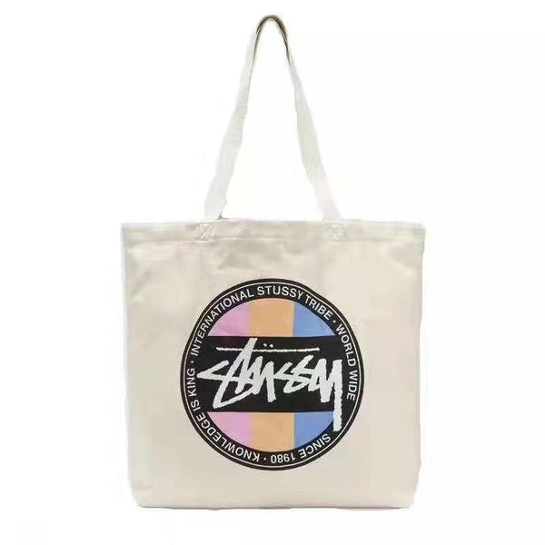 Japanese magazine gift Stussy White Tote Bag