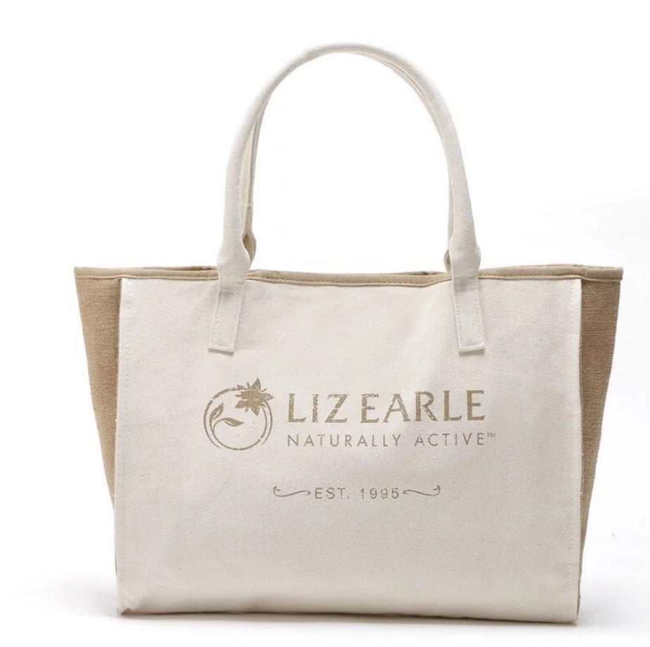 Japanese magazine gift Liz Earle Beige handbag with button & Inner pocket