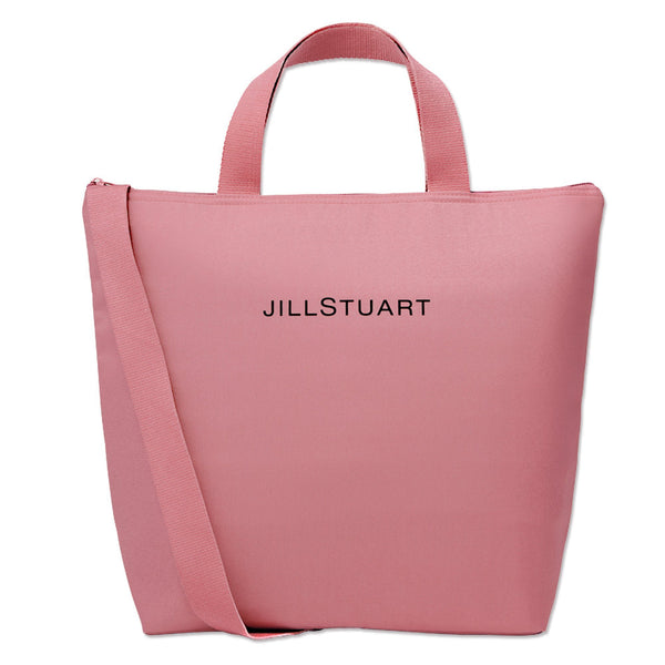 Japanese magazine gift Jill Stuart Pink Insulation bags with zipper