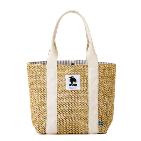 Japanese magazine gift Moz Rattan Handbag with button