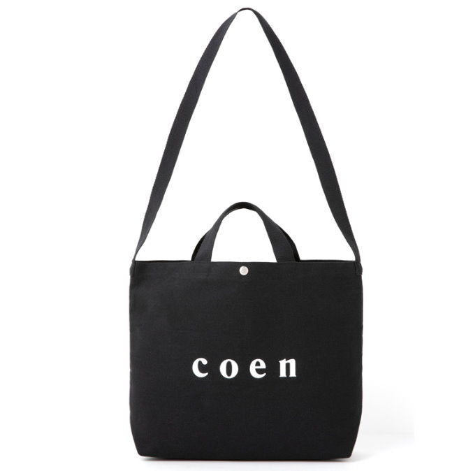 Japanese magazine gift Coen 10th Anniversary Black Canvas Bag