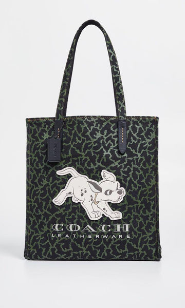 Disney X Coach Dalmatian Olive Black Tote Bag
