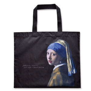 Japanese magazine gift painting pattern nylon Shopping bag