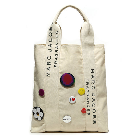 Japanese magazine gift MARC BY MARC JACOBS Beige shoulder bag with badge