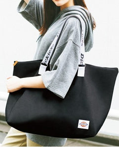 Japanese magazine gift Dickies Black Big waterproof Duffel bag with zipper