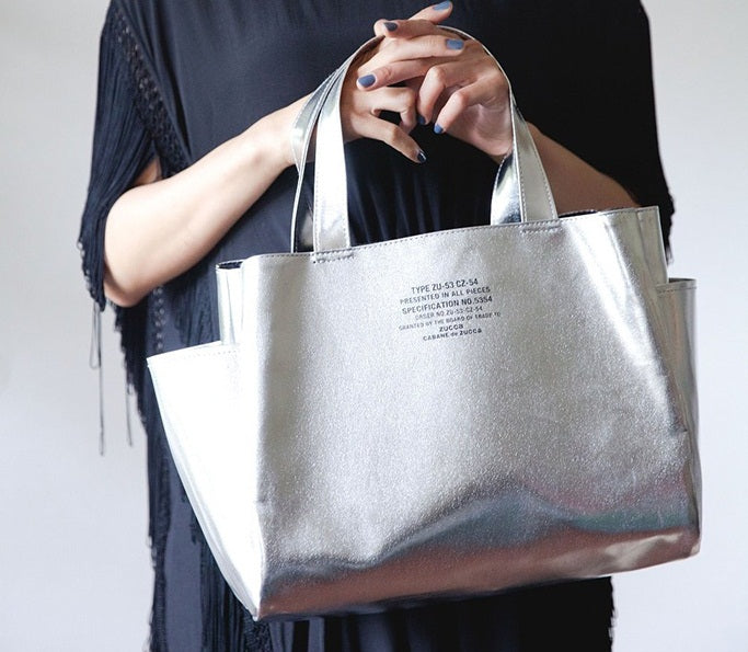 Japanese magazine gift Zucca Silver PV Tote Bag