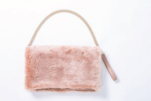 Japanese magazine gift Mercuryduo Pink Hairy bag