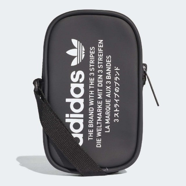Adidas Black waterpoof crossbody bag Pouch Bag with zipper