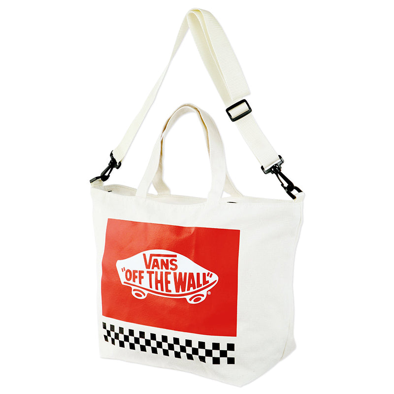 Japanese magazine gift Vans of the walls Beige crossbody bag with zipper