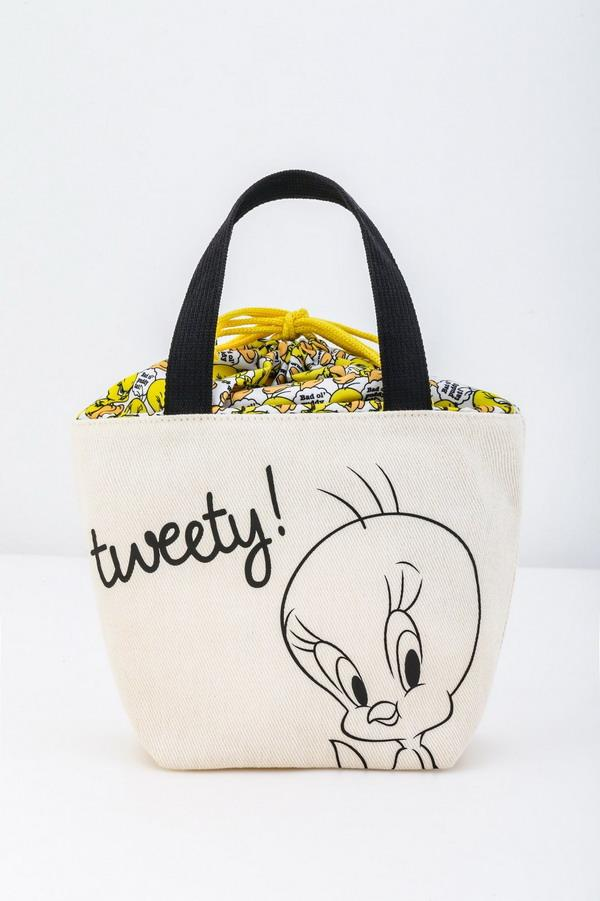 Japanese magazine gift Tweety Beige Lunch Bag