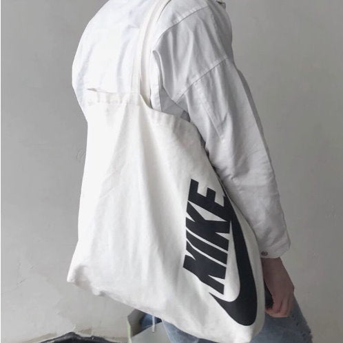 Japanese magazine gift Nike White Canvas tote shoulder bag