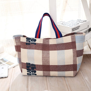 Japanese magazine gift CHER Cloth plaid Handbag Harajuku style