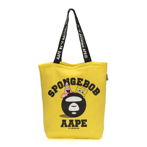 Japanese magazine gift aape X SpongeBob yellow totebag