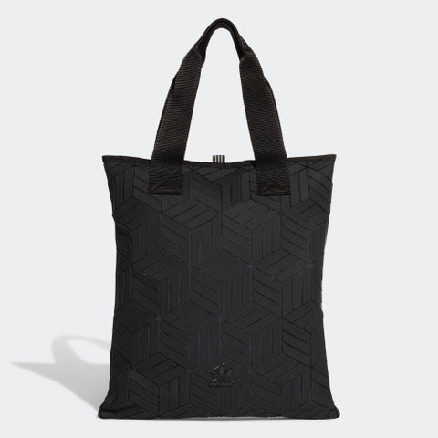 Adidas 3D SHOPPER BAG Shoulder Bag DY2969/2970 Black & White with zip