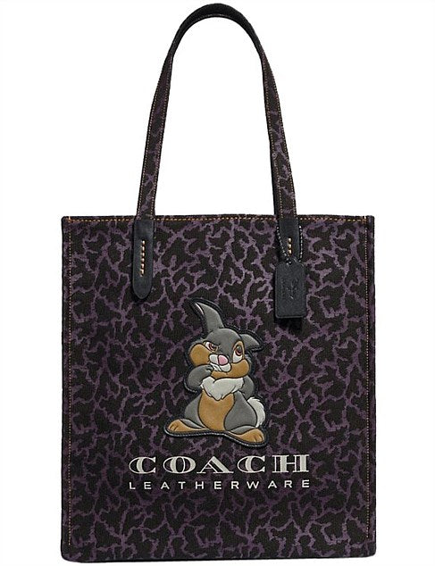Disney X Coach Thumper Purple Black Tote Bag