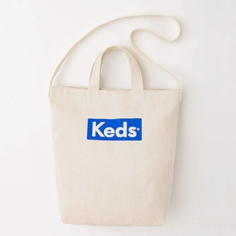 Japanese magazine gift Keds White 2 way Shoulder bag tote
