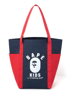 Japanese magazine gift Ape Bape Kids blue/red tote bag